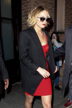 Jennifer Lawrence Going to and at the 'Late Show with David Letterman' in NYC 11/12/14 13