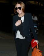 Lindsay Lohan Arriving on a flight at LAX Airport in Los Angeles December 16-2014 x13