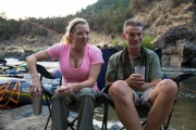 LoriDawn Messuri - Rafting trip candids September 2014 (busty/cleavage) x2