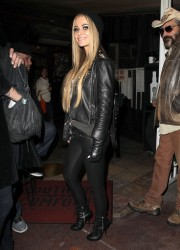 Carmen Electra - Wearing Leather Leaving the Rainbow Room in LA - 12/29/14