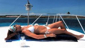 Kate Walsh - White Bikini on a Billionaire Boyfriend webmmercial (2012)