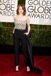 Emma Stone - 72nd Annual Golden Globe Awards in Beverly Hills 1/11/15