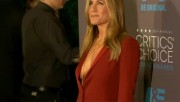 Jennifer Aniston cleavage at Critics' Choice Movie Awards, January 15, 2015