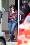 Selena Gomez  on the set of The Revised Fundamentals of Caregiving 1/29/15