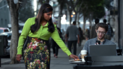 Mindy Kaling - in the 'Invisible Mindy Kaling Nationwide Super Bowl XLIX Commercial' 2/1/15 (adds)