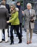 Elizabeth Hurley enjoy a lunch together with friends in Madrid February 6-2015 x13