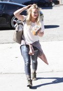 Hilary Duff - Going to a studio in LA 2/12/15