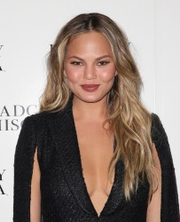 Chrissy Teigen - Badgley Mischka Fall 2015 Fashion Show in NYC 2/17/15