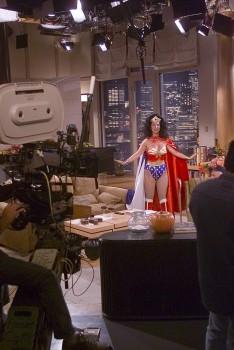 PERI GILPIN x4 - Wonder Woman costume