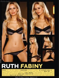 Ruth Fabiny in Playboys Lingerie February March 2011 USA