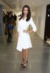 Emily Ratajkowski - Antonio Berardi Fashion Show in London 2/24/15