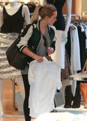Hilary Duff - Shopping in West Hollywood 2/25/15