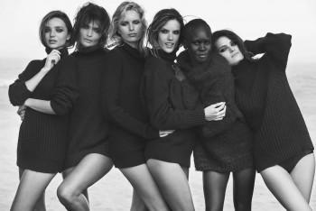 Miranda Kerr, Alessandra Ambrosio, Alek Wek, Isabeli Fontana, Helena Christensen and Karolina Kurkova - Colored Picture - x 1