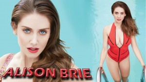"Alison Brie ""Taking a Dip"" Wallpaper"
