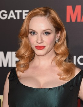 Christina Hendricks attends the AMC celebration of the final 7 episodes of 'Mad Men'  in Los Angeles, California on March 25, 2015