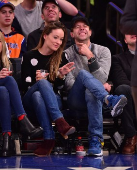 Olivia Wilde at the New York Knicks vs. Los Angeles Clippers game in Madison Square Garden on March 25, 2015