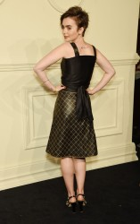 Lily Collins - CHANEL Paris-Salzburg 2014/15 Metiers d'Art Collection in NYC 3/31/15