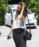 Zoe Saldana Leaves Ago Restaurant in West Hollywood April 1-2015 x41